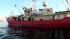 Wyprawa statek w oceanie na Nowym Ziemskim Vaigach zbiory wideo