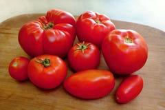 Wyprodukowany lokalnie organicznie pomidory Zdjęcia Stock