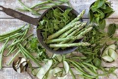Wyprodukowany lokalnie warzywa i ziele Fotografia Royalty Free