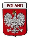 Wypukły Polska emblemat Zdjęcie Royalty Free