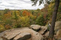 Wypusty Przegapiają Cuyahoga doliny parka narodowego Zdjęcia Stock