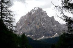 Wyróżniająca sassolungo wschodu skały ściana w gardena dolinie Fotografia Royalty Free