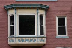 Wyróżniający Podpalany okno zdjęcia stock
