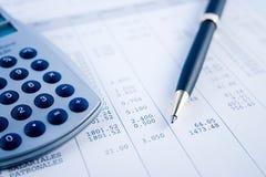 wyrównać rachunków Fotografia Stock
