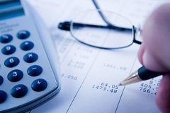 wyrównać rachunków Obrazy Stock
