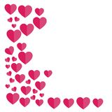 Wyrównujący serca czerwona róża również zwrócić corel ilustracji wektora bezpłatny Zdjęcie Stock