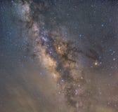 Wyraźnie milky sposób na nocnym niebie z milion gwiazdami fotografia royalty free