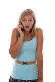 wyrażający nastoletnią dziewczyny niespodziankę Zdjęcia Stock