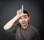 Wyrażenia dla mężczyzna luźnej twarzy Zdjęcie Stock