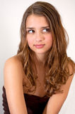 wyrażenie robi sowizdrzalskiego ładnego nastolatka Zdjęcia Royalty Free
