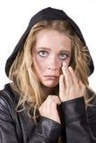 wyrażeniowej dziewczyny smutny łzy obcieranie obrazy stock
