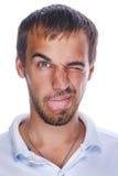 wyrażeniowy twarzowy śmieszny mężczyzna Zdjęcie Royalty Free