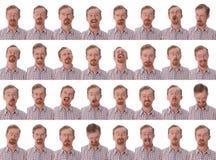 wyrażenia twarzowi Zdjęcia Stock