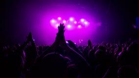 Wyrażenie od rockowego koncerta fotografia stock