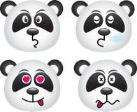 wyrażenie panda Obraz Royalty Free