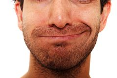 wyrażeniowy twarzowy sarkastycznie Fotografia Royalty Free