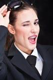 wyrażeniowa twarz Zdjęcia Royalty Free