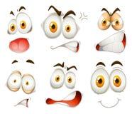 Wyraz twarzy na bielu ilustracji