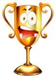 Wyraz twarzy na trofeum Zdjęcie Stock