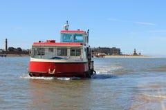 Wyre出海口轮渡Knott末端滑动式造船架,兰开夏郡 库存图片
