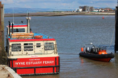 Wyre Estuary passenger ferry Fleetwood - Knott End Stock Photography