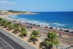 wyrzucać na brzeg śródziemnomorskiego Zdjęcie Royalty Free