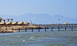 wyrzucać na brzeg Egypt rafę zdjęcie stock