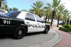 wyrzucać na brzeg Miami samochodową policję Obrazy Royalty Free