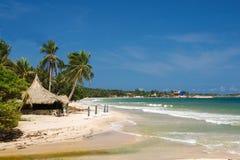 Wyrzucać na brzeg na Margarita wyspie, morze karaibskie, Wenezuela obrazy stock