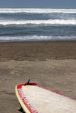 wyrzucać na brzeg surfboard Zdjęcia Royalty Free