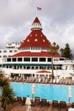 wyrzucać na brzeg zamkniętego Diego hotelowy San Fotografia Stock