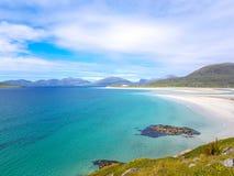 Wyrzuca? na brzeg i woda wyspa Harris, Szkocja zdjęcie royalty free