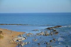 Wyrzucać na brzeg przy Scala dei Turchi blisko Agrigento, Sicily Zdjęcia Stock