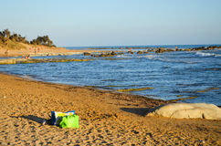 Wyrzucać na brzeg przy Scala dei Turchi blisko Agrigento, Sicily Obraz Stock