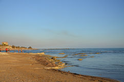 Wyrzucać na brzeg przy Scala dei Turchi blisko Agrigento, Sicily Obraz Royalty Free