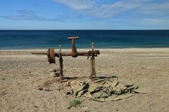 Wyrzucać na brzeg w naturalnym parku Cabo de Gata, Nijar - Fotografia Stock