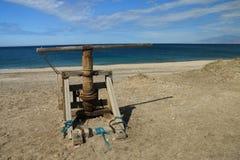 Wyrzucać na brzeg w Naturalnym parku Cabo de Gata, Nijar -, Almeria, Hiszpania Obrazy Stock