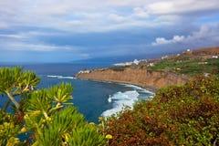 Wyrzucać na brzeg w Puerto De La Cruz, Tenerife wyspie - kanarek Hiszpania obraz royalty free