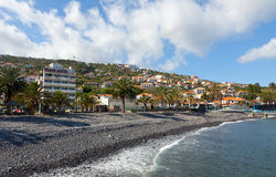 Wyrzucać na brzeg w Santa Cruz, madery wyspa, Portugalia Zdjęcie Royalty Free