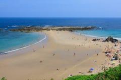 Wyrzucać na brzeg, zaludnia, Pechon, Cantabriaja, Zdjęcia Royalty Free