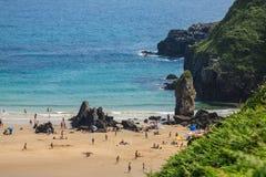 Wyrzucać na brzeg, zaludnia, Pechon, Cantabriaja, Fotografia Royalty Free