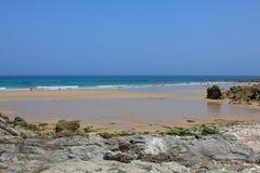 Wyrzucać na brzeg, zaludnia, Pechon, Cantabriaja, Fotografia Stock
