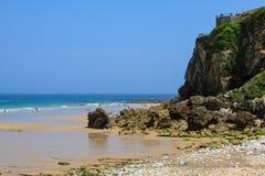 Wyrzucać na brzeg, zaludnia, Pechon, Cantabriaja, Zdjęcie Stock