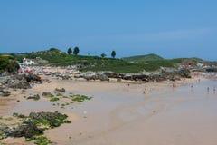 Wyrzucać na brzeg, zaludnia, Pechon, Cantabriaja, Obrazy Royalty Free