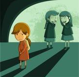 Wyrzutek dziewczyna ilustracji