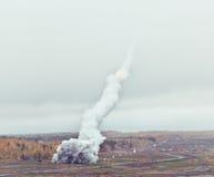 Wyrzutni rakietowej salwa Fotografia Royalty Free