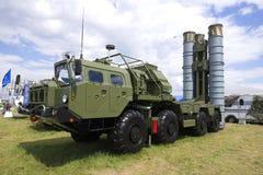 Wyrzutnia Rosyjski antiaircraft systemu rakietowego S-400 ` Triumph ` na MAKS-2017 pokazie lotniczym Obrazy Stock
