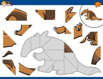 Wyrzynarki łamigłówka z anteater Obraz Royalty Free