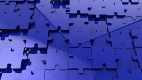 Wyrzynarki łamigłówki błękitny szklany tło Obrazy Stock