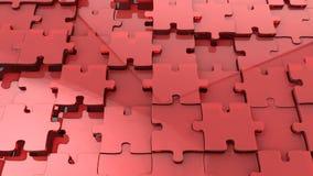 Wyrzynarki łamigłówki czerwony szklany tło Zdjęcie Royalty Free